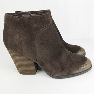Isola Womens Leandra Suede Brown Booties Size 10M